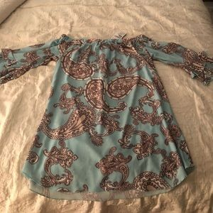 NWT Lord & Taylor Off the Shoulder Dress Sz 10